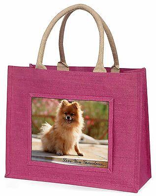 Westpommern-hund 'Liebe dich Oma' Große Rosa Einkaufstasche Weihnachten,