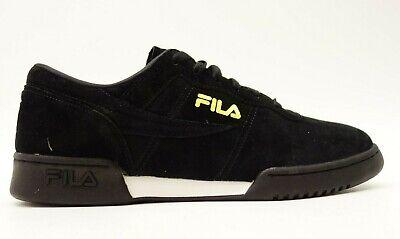 Fila Hommes Original Fitness Lineker Daim Noir Chaussures Baskets US 10.5 Ue 44 | eBay