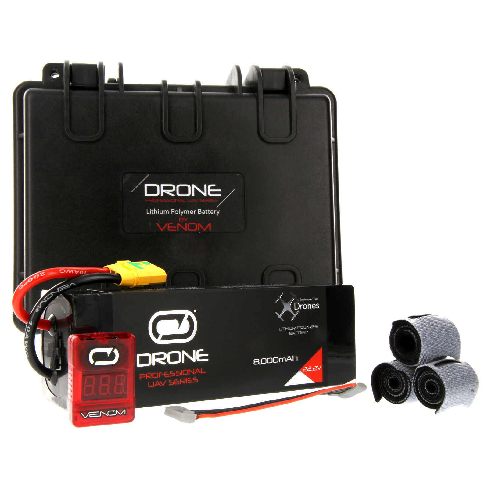 Venom 15C 6S 22.2V Batería Lipo Drone Pro 8000mAh  Aeronavics 8 Ti-QR