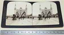 PHOTO STEREOSCOPIQUE 1909 J.J. KILLELEA ROTTERDAM PONT MAAS NEDERLAND HOLLANDE