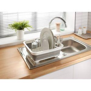 Collapsible Caravan Kitchen Sink Organiser Dish Drainer Space Saver ...