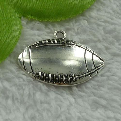 Free ship 80 pieces tibet silver football charms 38x27mm B4021