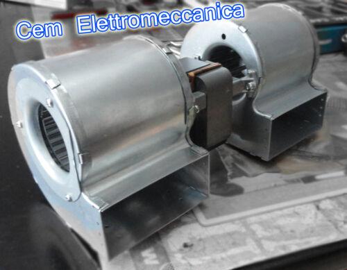 Ventilatore centrifugo doppio emmevi riscaldamento stufa pellet 230 v motore