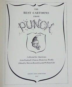 The-Best-Cartoons-by-Punch-1st-Edition-1952-Simon-and-Schuster-Hardcover