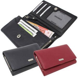 Damen-Leder-Geldboerse-Portemonnaie-Geldbeutel-Buegelverschluss-Nappaleder-RFID