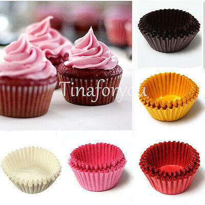 60X Mini Cupcake Chocolate Candy Nut Snack Greaseproof Paper Dessert Baking Cups