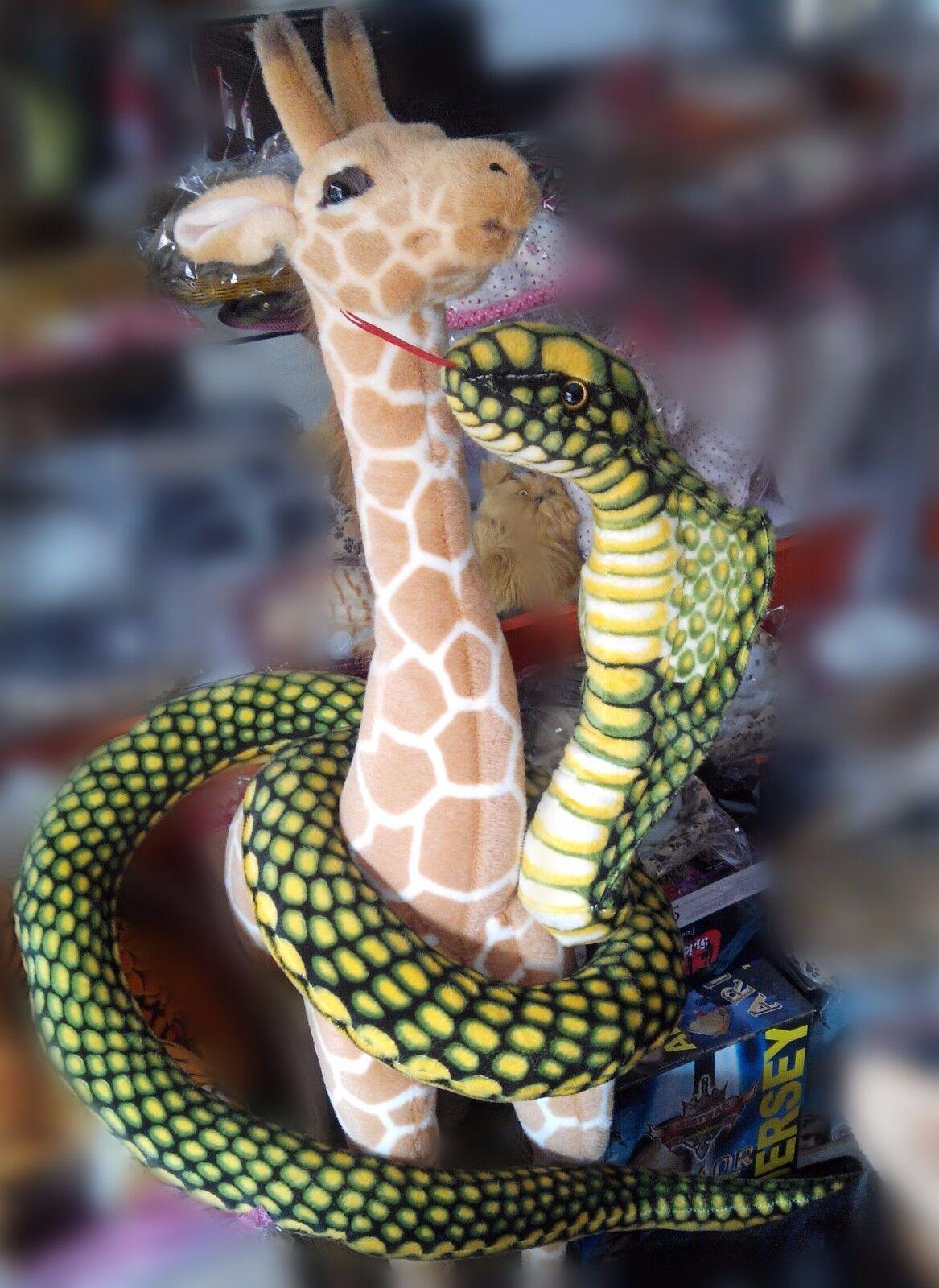 New 110  Green Snake King Cobra Plush Toy Toy Toy 2.8m Stuffed Emulational Anaconda Doll f025f4