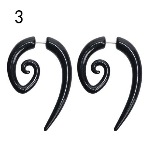 Acrylic Spiral Gauge Ear Plug Fake Cheater Stretcher Flesh Earrings Piercing FL