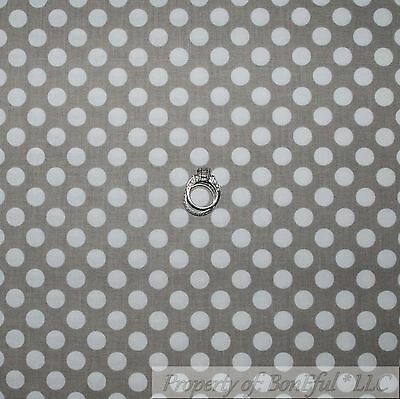 BonEful Fabric FQ Cotton Quilt Brown Tan Tone Tonal Small Little Polka Dot Baby