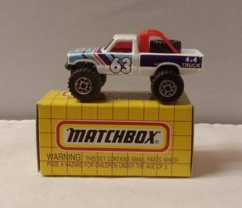 MJ7 MATCHBOX-Boîte Jaune-MB13 Dunes Racer-Blanc #63 Thaïlande Base