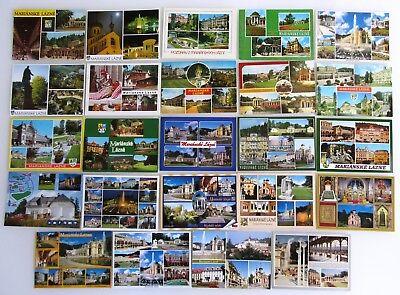 Qualifiziert 24 X Mariánské Lázně Marienbad Tschechien Postkarten Lot Mehrbildkarten Color