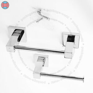 New-HAND-TOWEL-amp-TOILET-PAPER-TISSUE-CHROME-DISPENSER-HOLDER-STAND-WITH-FITTING