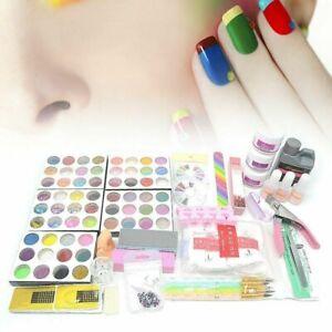 full set professional nail art acrylic powder tips uv gel