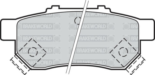 OEM SPEC FRONT AND REAR PADS FOR HONDA JAZZ 1.4 2008