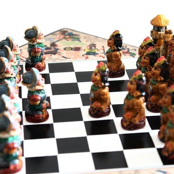 Chess set ' Inca's Vs Spaniards med