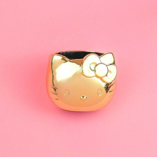 NEW IN BOX Sanrio Hello Kitty 2021 Shiny Gold Desk Cup