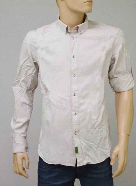 G STAR RAW Recruit Clean Note Mastic Shirt slim fit chemise homme gris beige