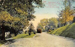 Vicksburg-Mississippi-Vicksburg-National-Cemetery-Driveway-Fork-in-Road-1911-PC