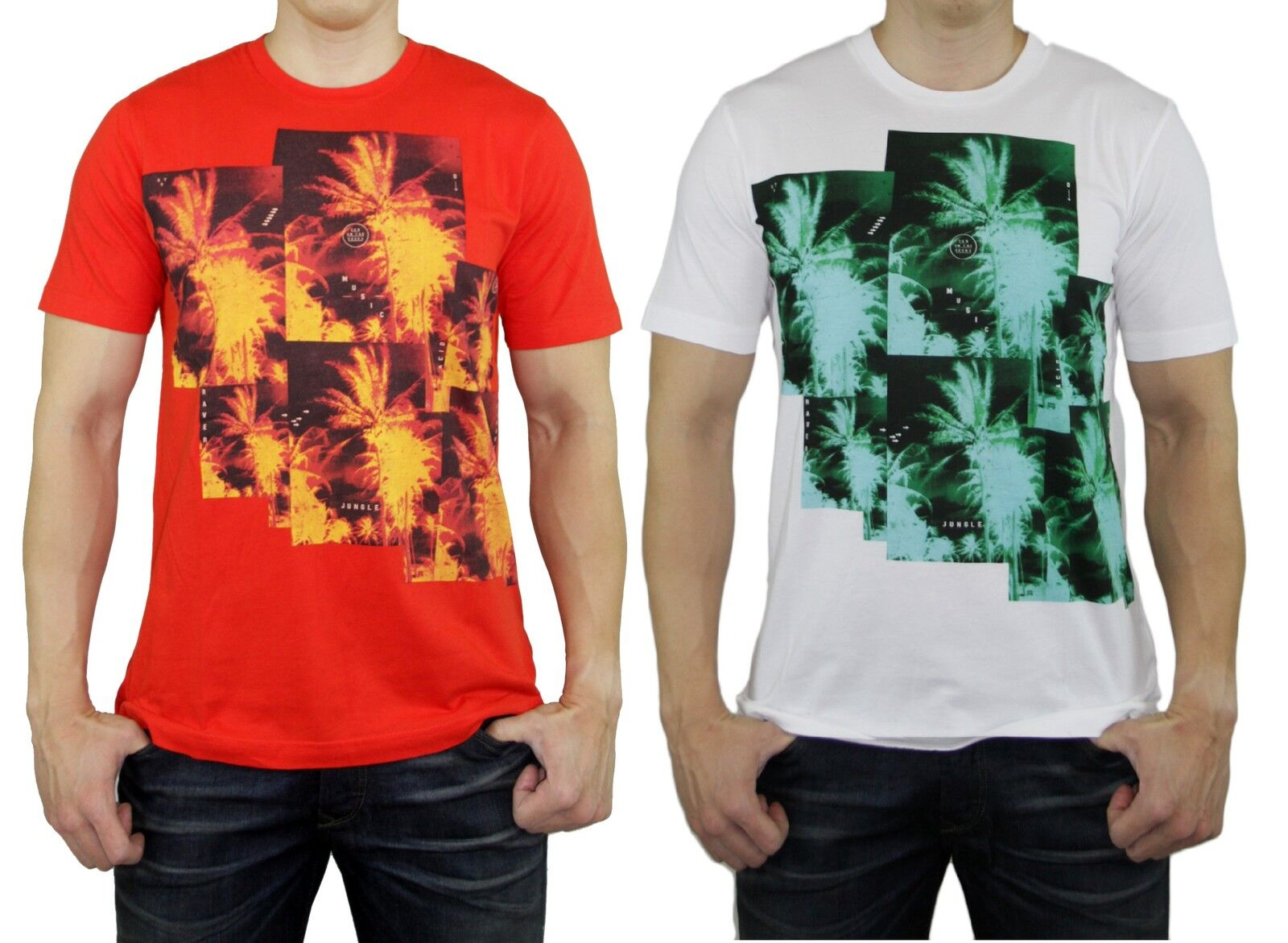 DIESEL Brand Mens T-PIR Logo Fireworks SS Vintage Tee T Shirts Top Red White