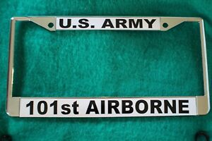Screaming Eagles License Plate Frame United States Army Veteran 101St Airborne