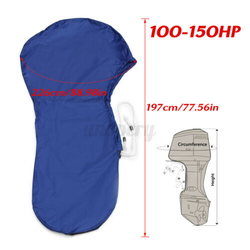 100-150HP 420D Full Outboard Engine Boat Motor Cover For Motor Speed//Rib Boat