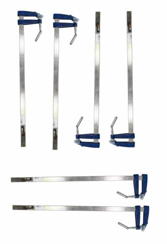 BrickLayer Profile F Clamp 50X300mm Metal Handle 6 Pc Set wood working F-Clamp