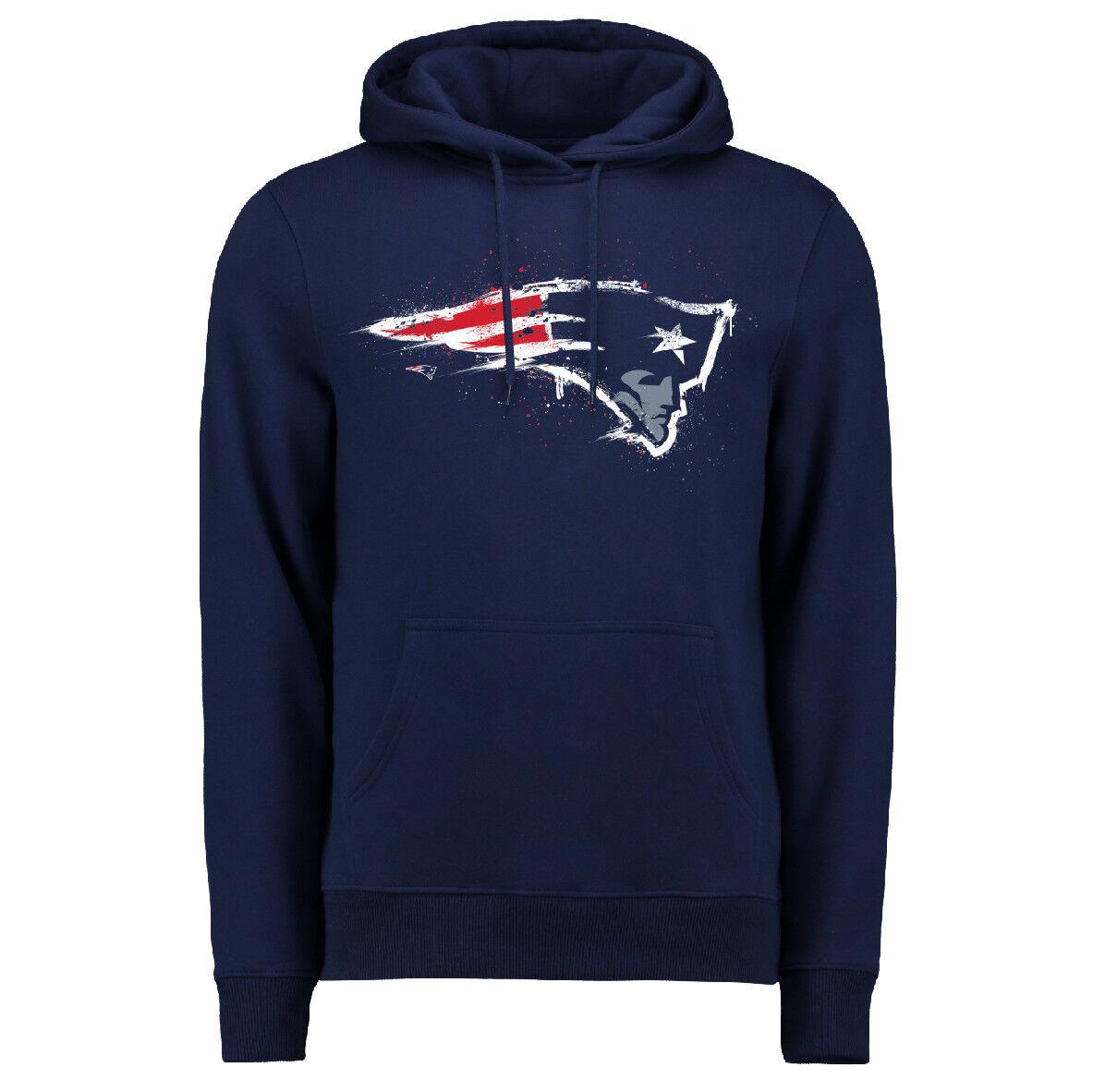 NFL Hoody New England Patriots Patriots Patriots Splatter Hoodie Kaputzenpullover hooded sweater 82ab02