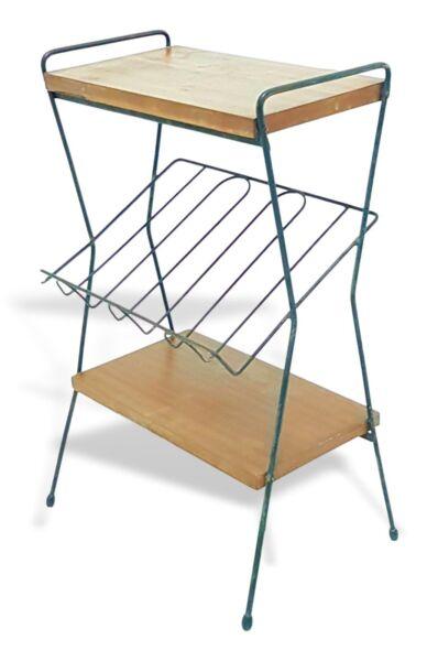 Abile Tavolino Da Salotto Svedese Anni 50 Con Portariviste Vintage Modernariato