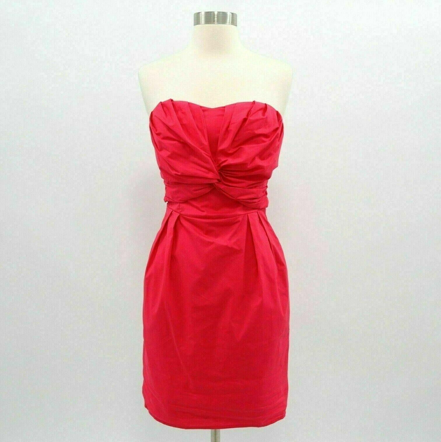 Coast Cocktail Dress damen 6 Strapless Hot Rosa Tie Waist Bow Knotted Pockets