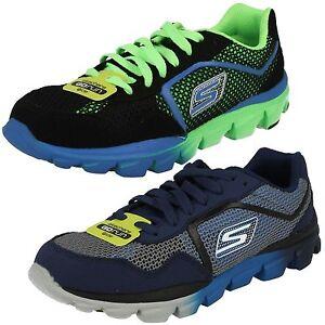 Skechers Go Run Ride Supreme 95672L Jungenschuhe Sneaker blackgreen