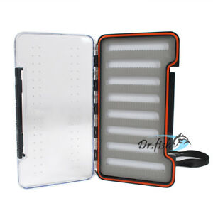 Saltwater-Fly-Box-Fishing-Tackle-Trout-Storage-Waterproof-Large-Slim-Lightweight
