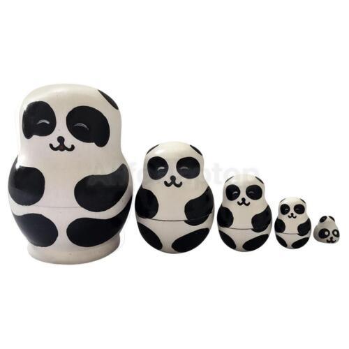 5 Stück Russische Babuschka Matroschka handbemalt Matroschka Puppen Dolls