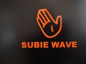 Details about 2 pack - Subaru Subie Wave Gloss Orange Decal Vinyl Decal  Sticker 4