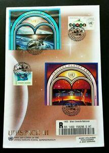 [SJ] United Nations Unispace 1999 Earth Space Universal Planet (FDC) *addressed