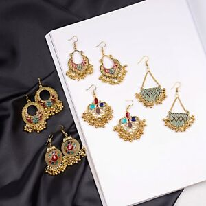 Vintage-Indian-Ethnic-Bollywood-Women-Gold-Bohemian-Drop-Antique-Charm-Earrings