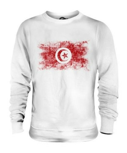 TUNISIA DISTRESSED FLAG UNISEX SWEATER TOP TUNES TUNISIAN TUNS SHIRT FOOTBALL