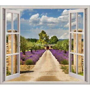 Sticker-fenetre-deco-Provence-Lavandes-ref-5483-5483