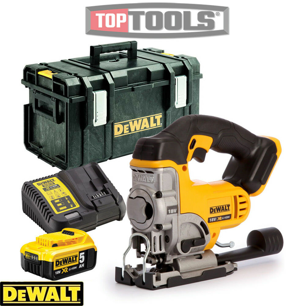 Dewalt DCS331N 18V Jigsaw With  1 x 5.0Ah Battery, Charger & DS300 Case