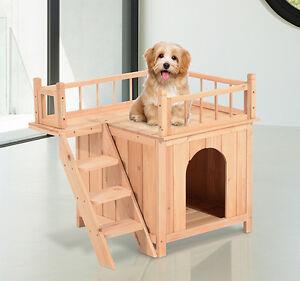 wooden pet house dog cat puppy room bed platform bed shelter indoor outdoor ebay. Black Bedroom Furniture Sets. Home Design Ideas