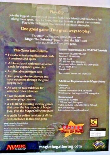 Magic The Gathering MTG 9th Ed Core Set 2-Player Starter Deck foil Serra Angel