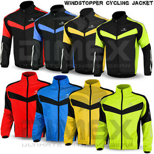 Cycling-Jacket-Windstoper-Winter-Thermal-Fleece-Windproof-Long-Sleeve-Coat-NEW