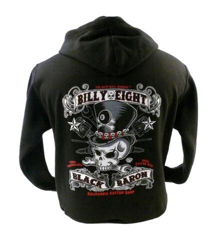billy Hoodie Mens Baron Black Biker Usa Eight a Billy Rock pBTwHqAx