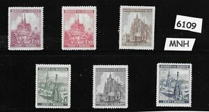 6109-MNH-full-stamp-set-Germany-WWII-Occupation-Cathedrals-Third-Reich