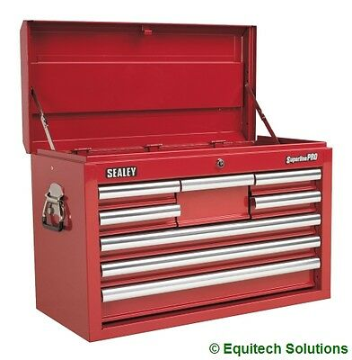 Sealey Tools AP33089 Red Top Chest Toolbox Ball Bearing Runners Slides 8 Drawer