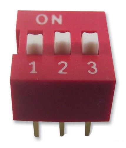 Interruptor Dip, 3 polos, SPST-NO-Multicomp-mcnds - 03V