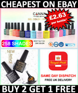 Nail Gel Polish set CANNI Soak off UV LED Colour Base Top Coat Nail Varnish