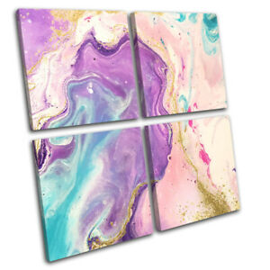 Watercolour-Marble-Abstract-Fashion-MULTI-CANVAS-WALL-ART-Picture-Print