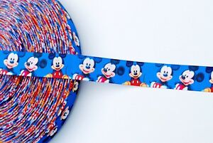 7-8-034-Mickey-Mouse-Grosgrain-Ribbon-Disney-Mickey-Mouse-Ribbon-By-The-Yard