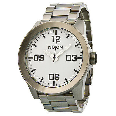 Nixon Corporal SS White Dial Stainless Steel Mens Watch A346100