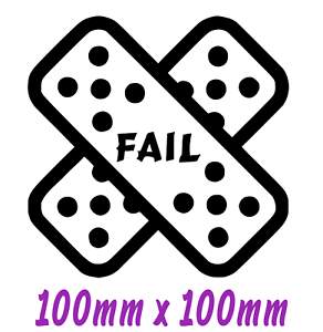 4-034-X-4-034-FAIL-Funny-Car-Van-Window-Bumper-JDM-VW-EURO-Vinyl-Decal-Sticker